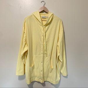 Fashion Bug yellow zip up hoodie, plus size 26/28w